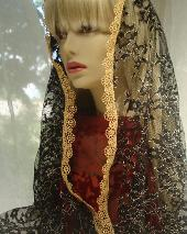 Black and Gold Veil