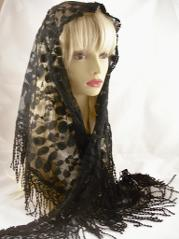 Black Wedge Mantilla