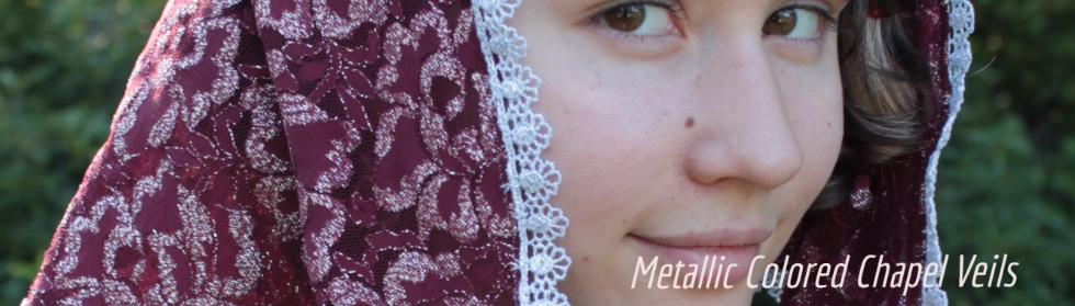 Metallic Chapel Veils