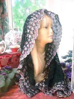 Embroidered Rectangle Veil