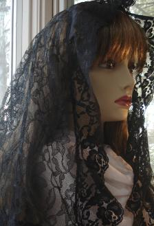 Long Black Mantilla