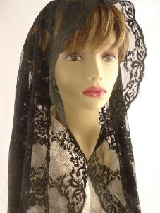Long Black Wrap Veil