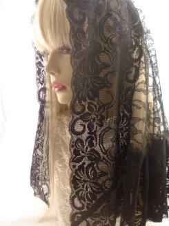 Long Black Mantilla Veil